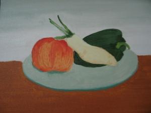 My first acrylic on canvas