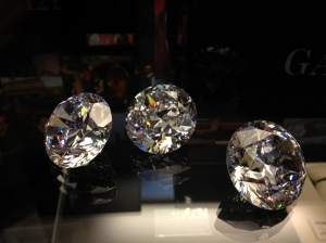 Diamonds on display