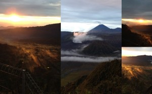 The beautiful sunrise at Mt.Bromo