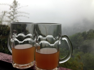 Ginger tea at one of the warungs