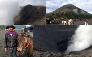 The scene at the foot of Mt.Bromo that morning