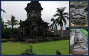 The Singosari temple and the broken sculptures of Hindu Gods