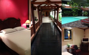 The room, the pool and corridors at Tugu Malang