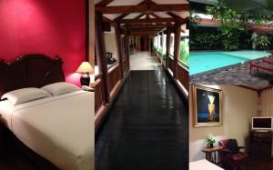 The room, the pool and corridors at Tugu Malang