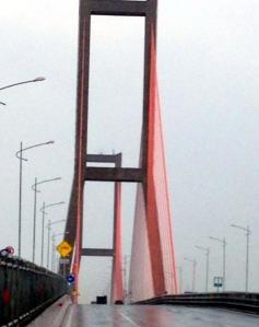The cable bridge- Suramadu