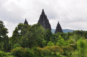 Prambanan - The 9th Century Hindu temple dedicated to the Trimurti At Jogjakarta