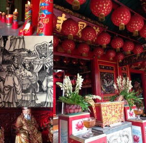 The typical ambience of a Chinese temple.